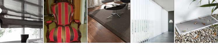 Produkte - Gardinen/Dekorationen, Polsterei, Teppiche, Sonnenschutz, Insektenschutz